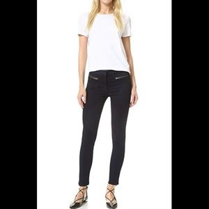 veronica beard skinny zip cropped jeans size 8 DR